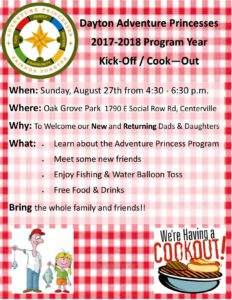 Cook-out flyer