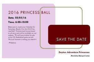 Save the dateprincessball
